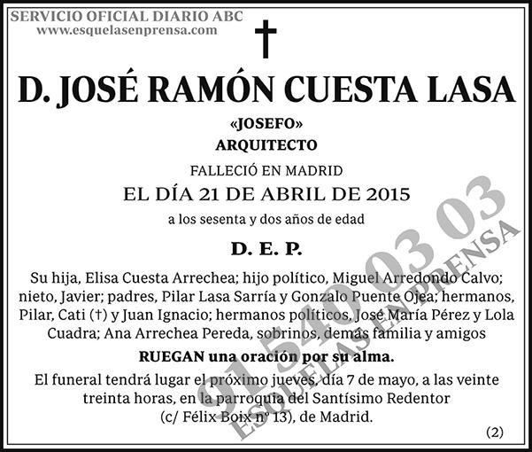 José Ramón Cuesta Lasa